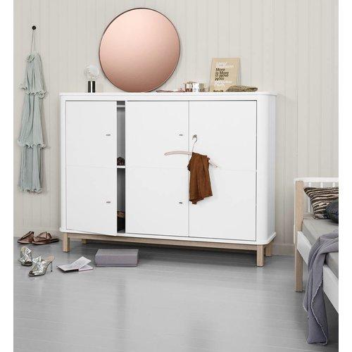 Oliver Furniture sideboard 3 doors white oak