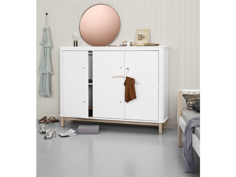 Oliver Furniture Wood Multi-Schrank 3-türig weiss/Eiche