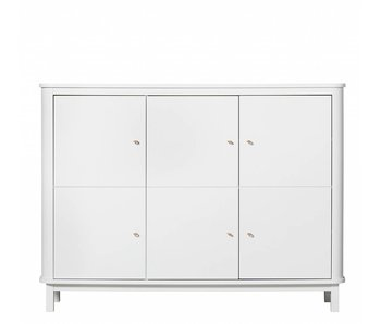 Oliver Furniture cupboard 3 doors white