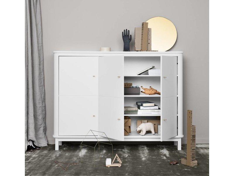 Oliver Furniture Wood Multi-Schrank 3-türig weiss