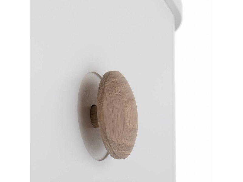 Oliver Furniture Wood Wickelkommode klein weiss/Eiche