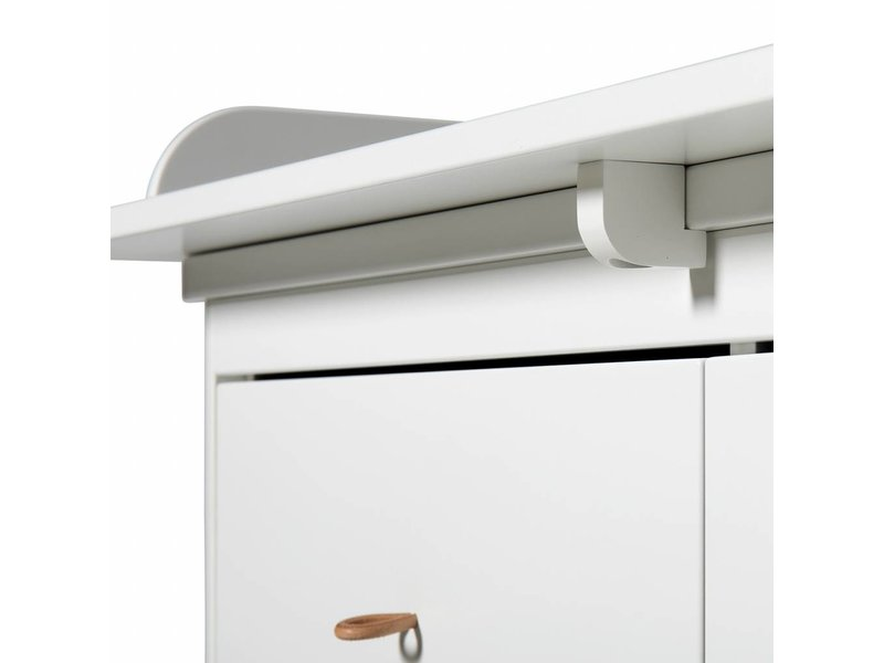Oliver Furniture Wood Wickelkommode große Wickelplatte weiß
