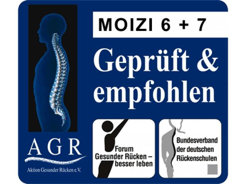 Moizi Kufenstuhl Moizi 7 weiß mit Rückenpolster
