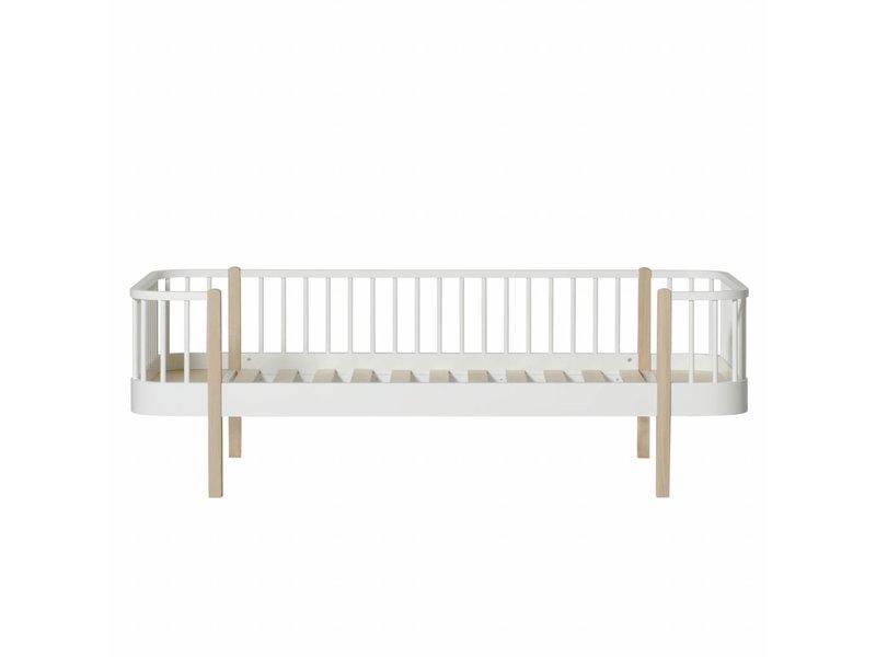 Oliver Furniture Bettsofa Wood, weiß-Eiche