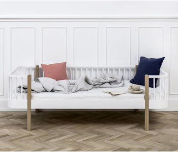 Oliver Furniture Bettsofa Wood, weiß-Eiche