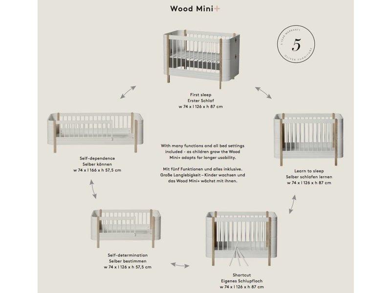 Oliver Furniture Babybett Wood Mini+ basic, weiß-Eiche