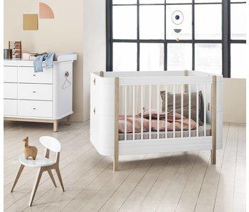 Oliver Furniture Wood Mini+ Baby- und Kinderbett, weiß-Eiche