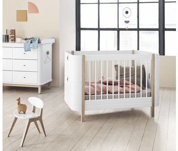Oliver Furniture Wood Mini+ Babybett, weiß-Eiche