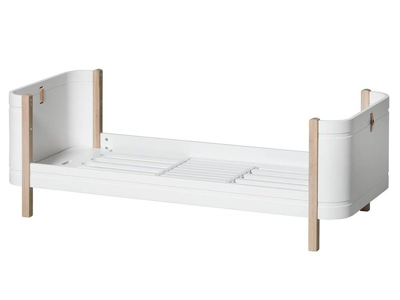 Oliver Furniture Wood Mini+ baby and children´s bed, white-oak