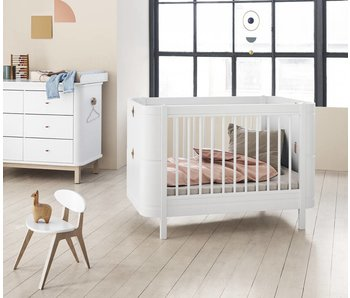 Oliver Furniture Wood Wood Mini+ Baby- und Kinderbett, weiß