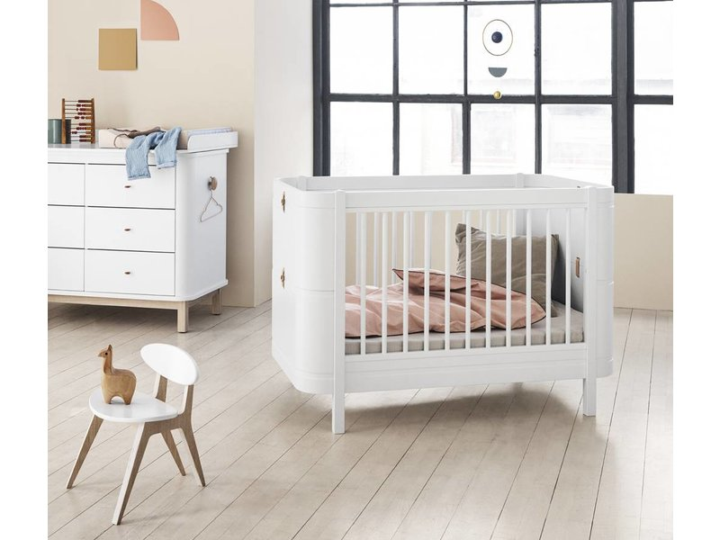 Oliver Furniture Wood Mini+ Baby- und Kinderbett, weiß