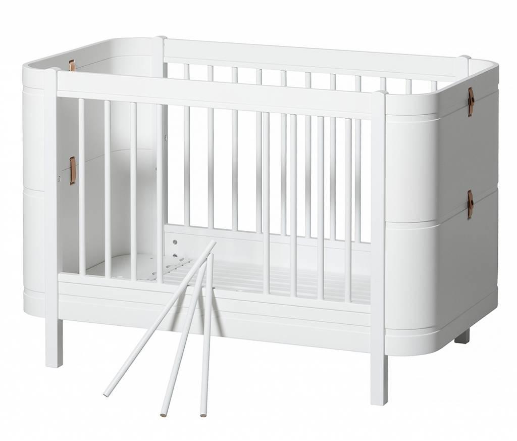 Oliver Furniture Wood Mini+ Babybett weiss - www.romy-kindermoebel.de