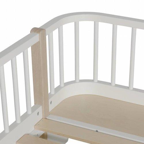 Oliver Furniture Halbhohes Hochbett Wood Original weiß-Eiche 90 x 200