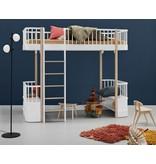 Oliver Furniture Hochbett Wood Collection, weiß-Eiche - Copy