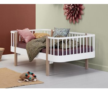 Oliver Furniture Juniorbett Wood Collection, weiß/Eiche