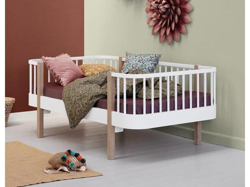 Oliver Furniture Juniorbett Wood, weiß/Eiche