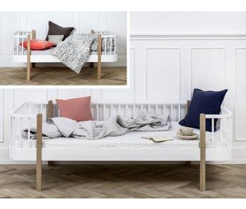 Oliver Furniture Umbau Juniorbett zum Junior Bettsofa Wood weiß/Eiche