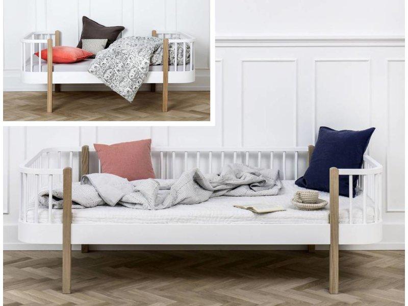 Oliver Furniture Umbausatz Juniorbett zum Junior Bettsofa Wood weiß/Eiche