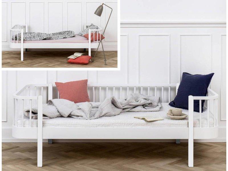 Oliver Furniture Umbausatz vom Einzelbett zum Bettsofa Wood in weiß