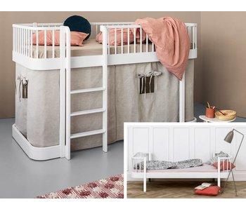 Oliver Furniture Umbau Einzelbett zum halbhohen Bett Wood weiß