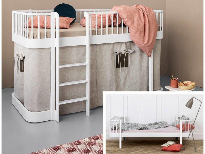 Oliver Furniture Umbau Wood Einzel/Junior zu halbhohem Bett weiß