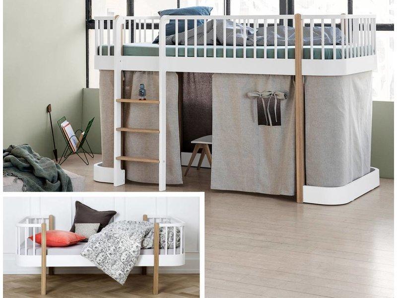Oliver Furniture Umbau Wood Einzel/Junior zu halbhohem Bett Eiche