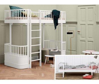 Oliver Furniture Umbau Wood Einzel/Junior zum Hochbett weiß