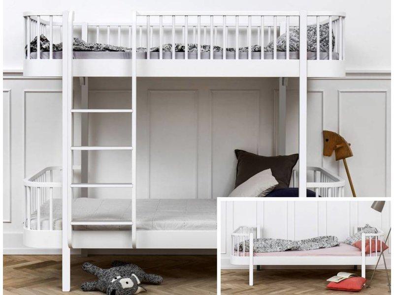 Etagenbett Einzelbett : Wood umbau vom einzelbett zum etagenbett in weiß romy