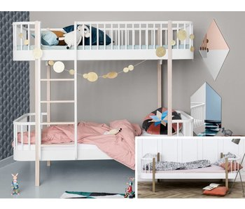 Oliver Furniture Umbau Einzelbett zum Etagenbett Wood weiß/Eiche