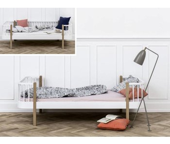 Oliver Furniture Umbau Bettsofa zum Einzelbett Wood weiß/Eiche