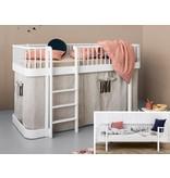 Oliver Furniture Umbausatz vom Bettsofa zum halbhohen Bett Wood  weiß