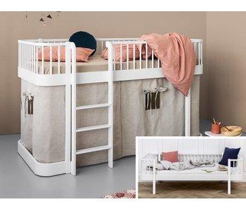 Oliver Furniture Umbau Bettsofa zum halbhohen Bett Wood weiß
