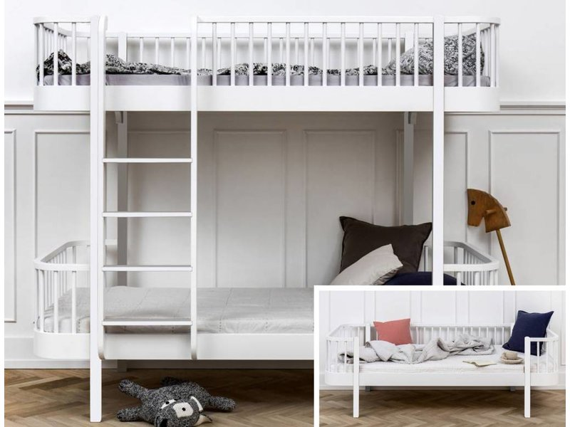 Oliver Furniture Umbausatz vom Bettsofa zum Etagenbett Wood weiß