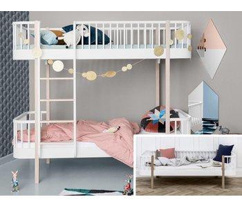 Oliver Furniture Umbau Bettsofa zum Etagenbett Wood weiß/Eiche