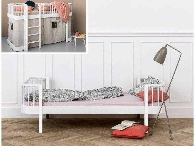 Oliver Furniture Umbausatz vom halbhohen Bett zum Einzelbett Wood  weiß