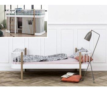 Oliver Furniture Umbau halbhohes Bett zum Einzelbett Wood weiß/Eiche