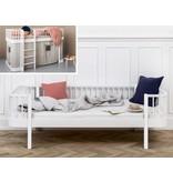 Oliver Furniture Umbausatz vom halbhohen Bett zum Bettsofa Wood  weiß