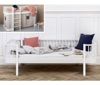 Oliver Furniture Umbau halbhohes Bett zum Bettsofa Wood weiß