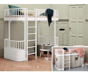 Oliver Furniture Umbau halbhohes Bett zum Hochbett Wood weiß