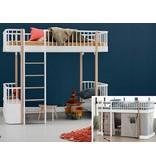 Oliver Furniture Umbausatz vom halbhohen Bett zum Hochbett Wood  weiß/Eiche