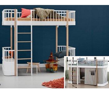 Oliver Furniture Umbau halbhohes Bett zum Hochbett Wood weiß/Eiche