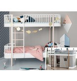 Oliver Furniture Umbausatz vom halbhohen Bett zum Etagenbett Wood weiß/Eiche