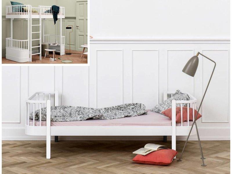 Oliver Furniture Umbausatz vom Hochbett zum Einzelbett Wood weiß