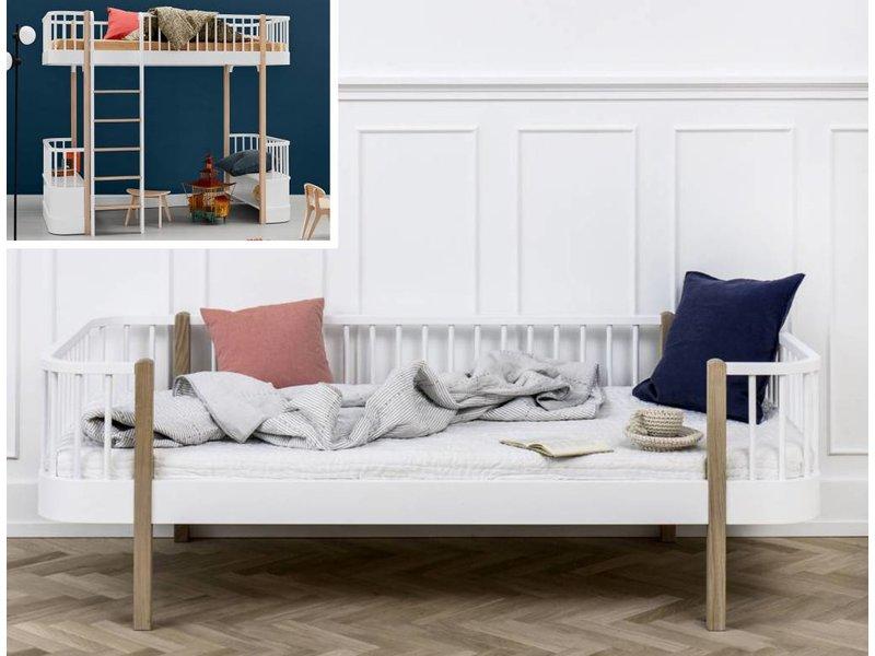 Oliver Furniture Umbausatz vom Hochbett zum Bettsofa Wood  weiß/Eiche