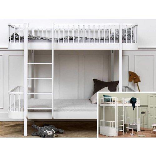 Oliver Furniture Umbausatz vom Hochbett zum Etagenbett Wood  weiß