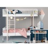 Oliver Furniture Umbausatz vom Hochbett zum Etagenbett Wood in weiß/Eiche