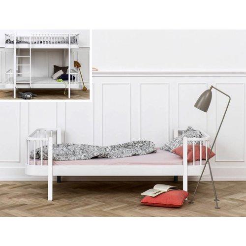 Oliver Furniture Umbausatz vom Etagenbett zum Einzelbett Wood in weiß/Eiche
