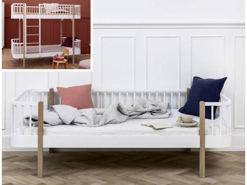 Oliver Furniture Umbausatz vom Etagenbett zum Bettsofa Wood in weiß/Eiche