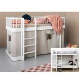 Oliver Furniture Umbausatz vom Etagenbett zum halbhohen Bett Wood in weiß