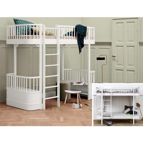 Oliver Furniture Conversion kit bunk bed to loft bed Wood Original in white